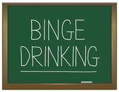 Binge drinking concept. — Stock Photo
