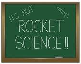 不是火箭科学. — 图库照片