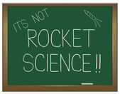 Not rocket science. — 图库照片