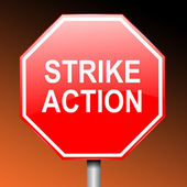Strike concept. — Stock Photo
