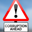Corruption warning. — Stock Photo