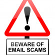 Stock Photo: Email scam concept.