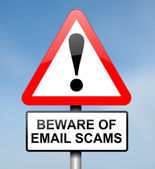 Email scam concept. — Stock Photo