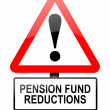 Stock Photo: Pension fund disappointment.