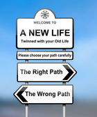 Choosing the right path. — Stock Photo