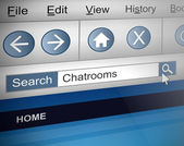 Chat room search. — Stock Photo