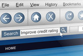 Credit rating concept. — Foto Stock