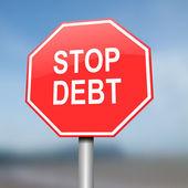 Stop debt concept. — Stock Photo