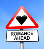 Romance ahead. — Stockfoto