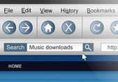 Busca de download de áudio. — Foto Stock