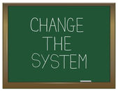 Change the system. — Stock Photo