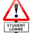 Student loans warning. - Stock Photo