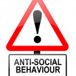 Stock Photo: Anti-social behaviour warning.