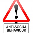 Постер, плакат: Anti social behaviour warning