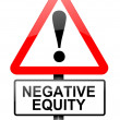 Stock Photo: Negative equity concept.