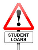 Student loans warning. — Stock Photo