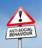 Anti-social behaviour warning. — Stock Photo