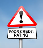 Poor credit rating. — Stock Photo