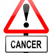 Cancer warning. — Stock Photo
