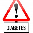 Diabetes warning. — Stock Photo