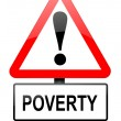 Poverty warning. — Stock Photo