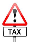 Tax warning. — Stock Photo