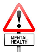 Mental health warning. — Stock Photo