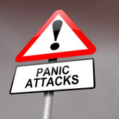 Panic attack warning. — Stock Photo