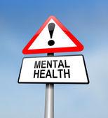 Mental health warning. — Stock Photo