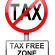 Tax free zone. — Stock Photo