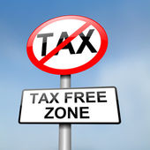 Tax free zone. — Foto Stock