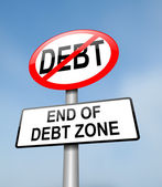 Debt free zone. — Stock Photo