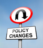 Policy change. — Stock Photo