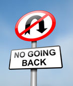 No going back. — Foto de Stock