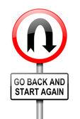 Start again. — Stock Photo
