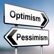Stock Photo: Pessimism or optimism.