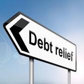 Concepto de alivio de la deuda. — Foto de Stock