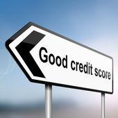 Conceito de pontuação de crédito — Foto Stock