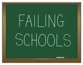 Failing schools concept. — Stock Photo