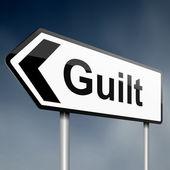 Guilt concept. — Stock Photo