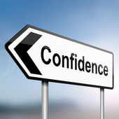 Confidence concept. — Stock Photo