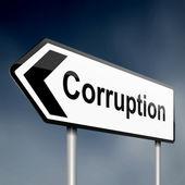 Corruption concept. — Stock Photo