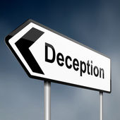 Deception concept. — Stock Photo