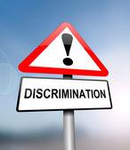 Discrimination alert concept — Stock Photo