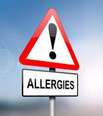 アレルギー警告. — ストック写真