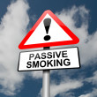 Passive smoking concept. - Stock Photo