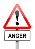Anger warning, — Fotografia Stock