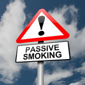 Passive smoking concept. — Stock Photo