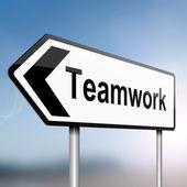Concepto de trabajo en equipo. — Foto de Stock