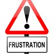 Frustration warning concept. — Stock Photo
